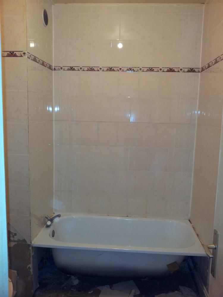 Transformation d'une salle de bain - avant travaux