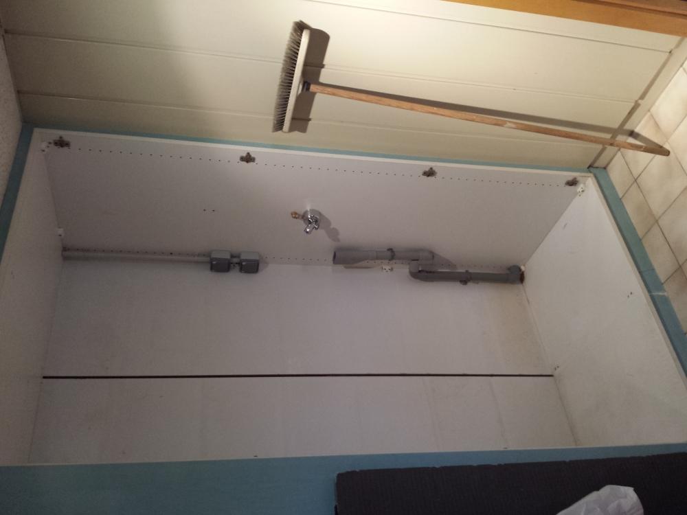 Réaménagement d'une salle d'eau d'appoint - avant travaux