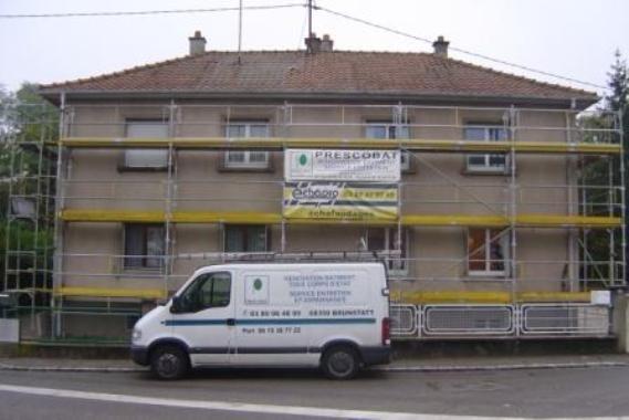 Réfection d'une façade - avant travaux