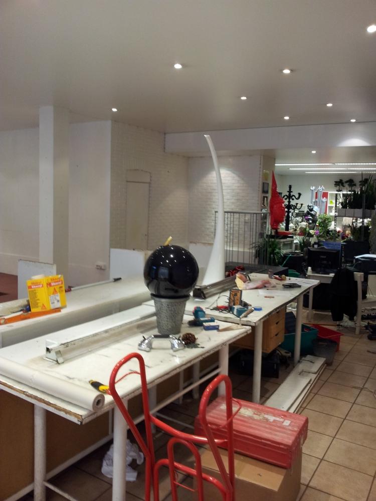Rénovation Fleuriste Mulhouse - avant travaux